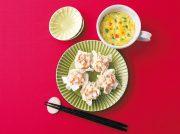 エビと長イモの焼売 コーンと卵の中華風とろみスープ