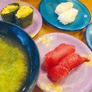 柏【大江戸 柏店】店内で寿司を食べると みそ汁をサービス