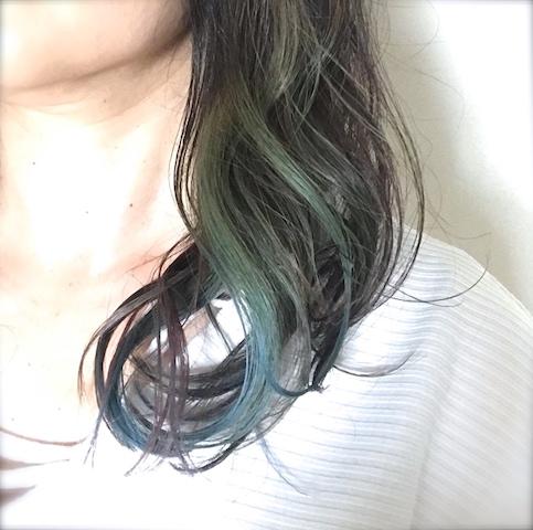 髪をオーロラカラーにしました。気になる価格や所要時間は?