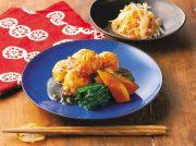寒天入り鶏つくねの照り煮 セロリと鮭の柚こしょう和え