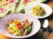 アサリと豚肉のポルトガル風蒸し煮 紫タマネギとジャガイモのサラダ