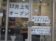 【開店】令和元年、12/9(月)「Jewelry  Fruits」OPEN! @大宮