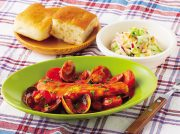 タラとアサリのアクアパッツア 白菜とリンゴのサラダ