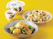 肉団子とかぶの中華煮込み 桜エビと春菊のチャーハン
