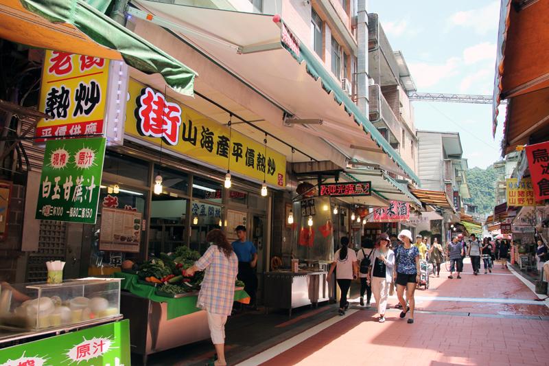 台湾・烏来の商店街