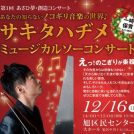 サキタハヂメ  ミュージカルソーコンサート/旭区民センター